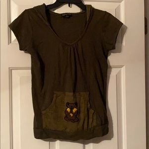 Cute little Gypsy Rose top, olive green.